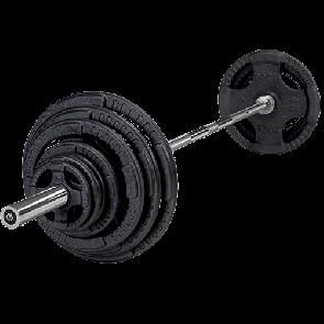 Tõstekang raskustega + kettad 120kg, 180kg, 230kg